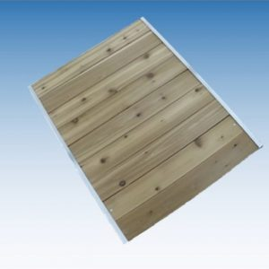 Cedar & Treated Wood Boardwalk Tread with Aluminum Stringer