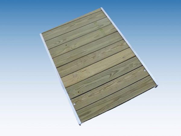 Cedar & Treated Wood Boardwalk Tread with Aluminum Stringer